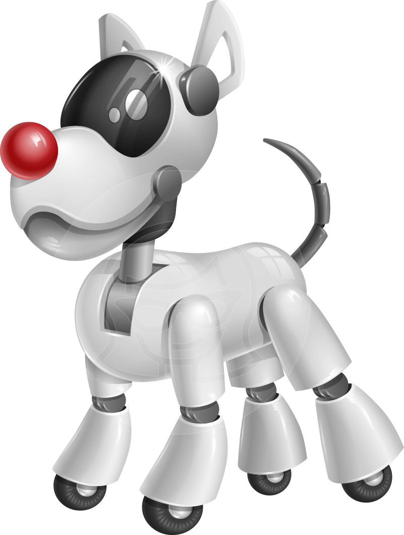 Vector horses robotic. Dog robot character design