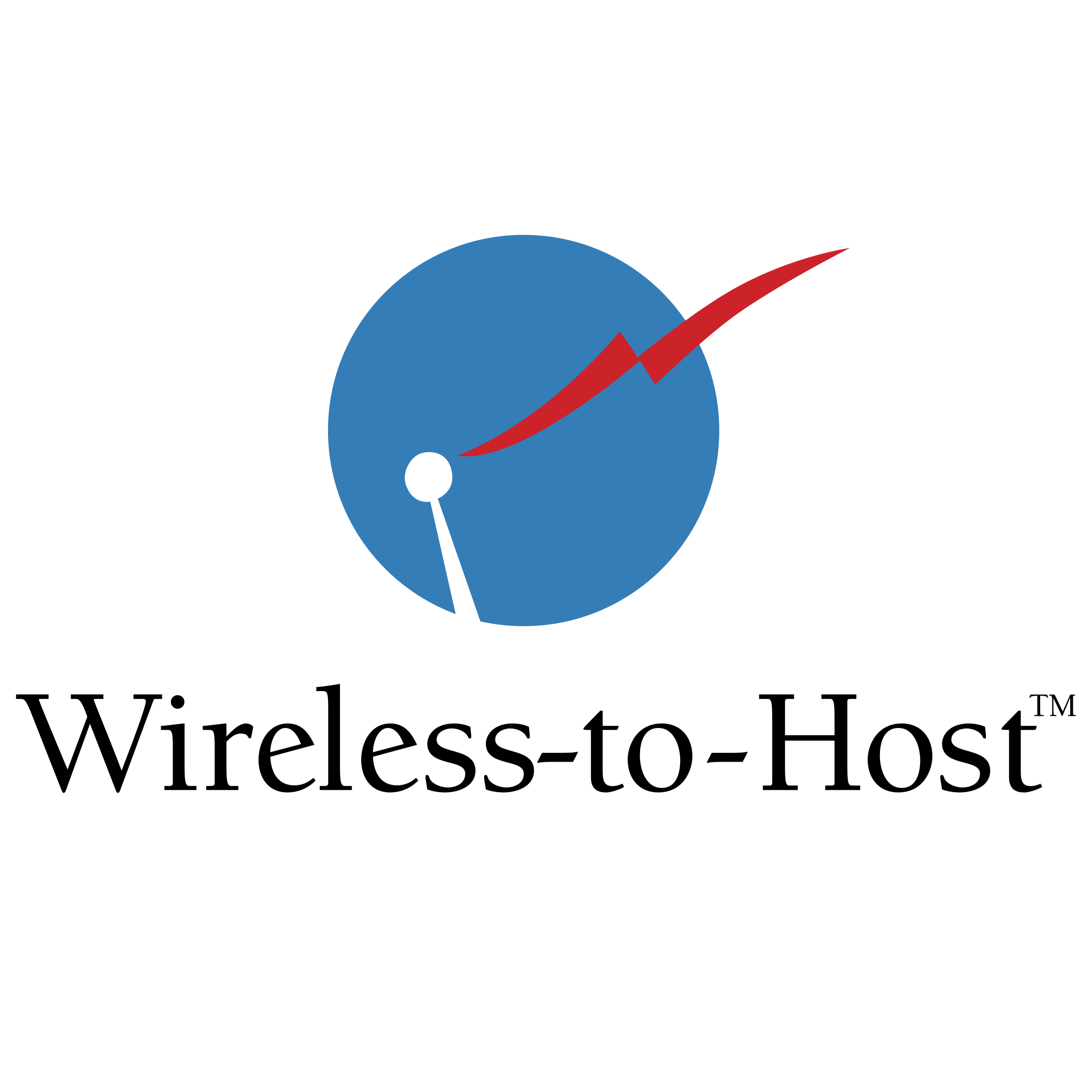 Vector host. Wireless to logo png
