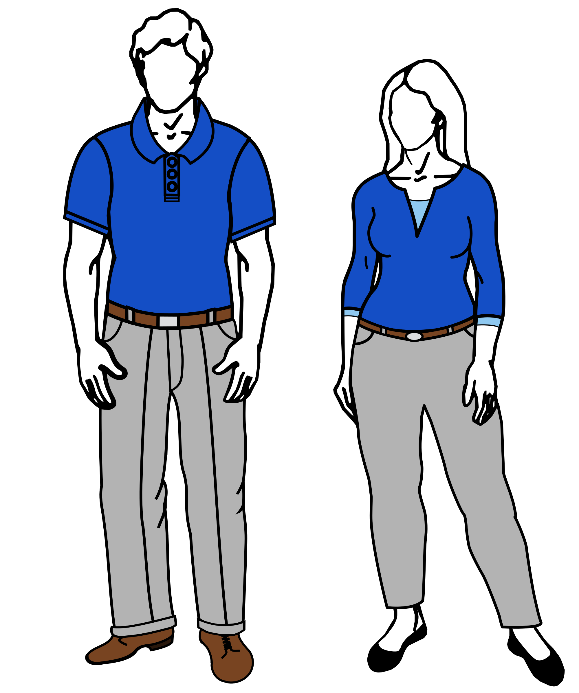 Vector human business casual. File male female svg