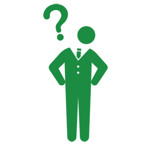 Vector human pictogram. Question free pictograms