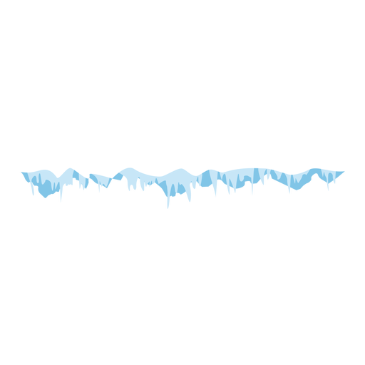 Vector icicles. Frozen cap icon transparent