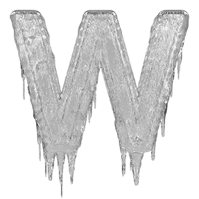 Icicles drawing hand. Buy icicle font to