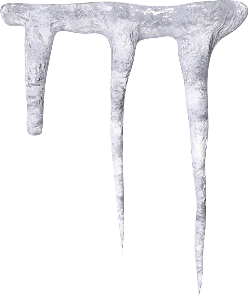 Icicles transparent vector. Download free png image