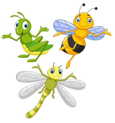 Vector insects cute