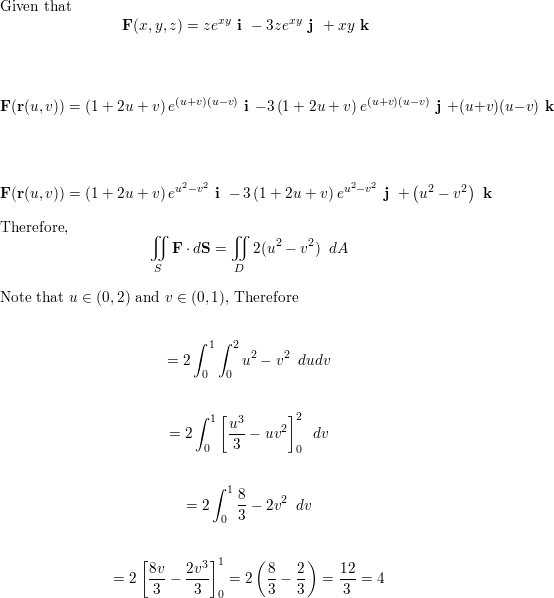 Vector intergration surface integral. Evaluate the double s