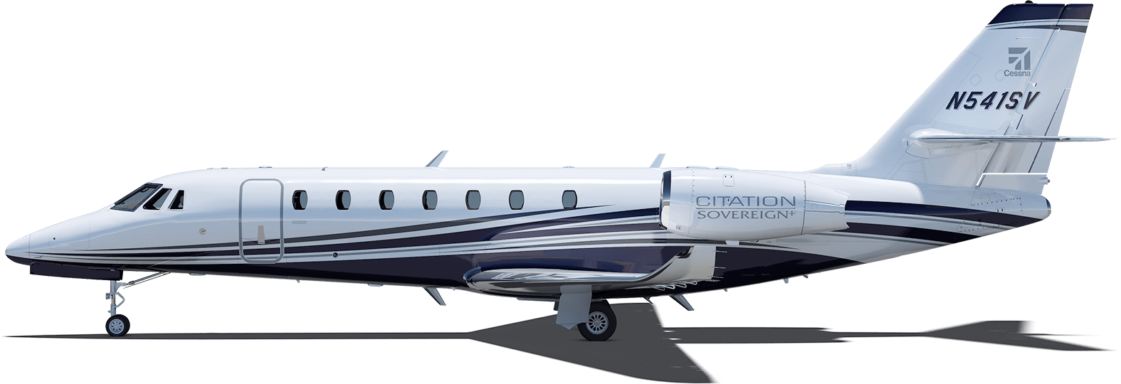 Citation sovereign length. Vector jet side clipart black and white stock
