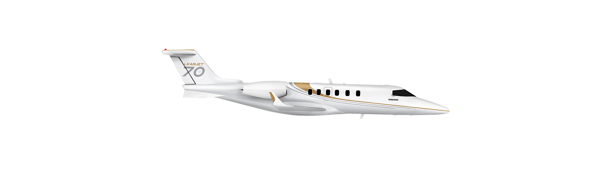 Discover our jets bombardier. Vector jet side banner library