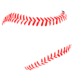Vector laces. Red baseball clip art