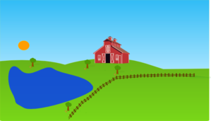 Vector lake. Clipart free for download