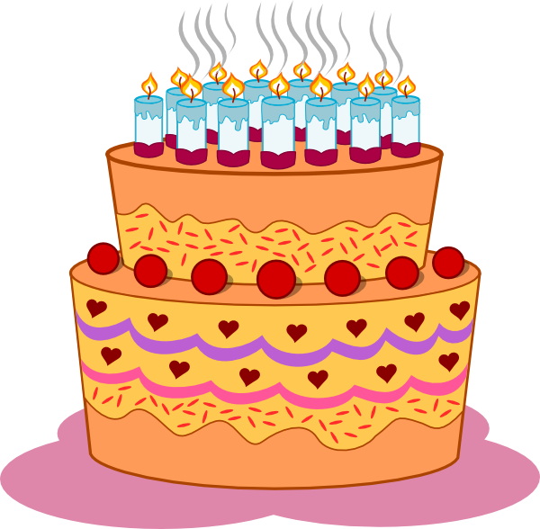 Vector layers cake. Layered birthday clip art
