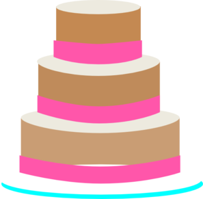 Vector layers cake. Wedding clip art at