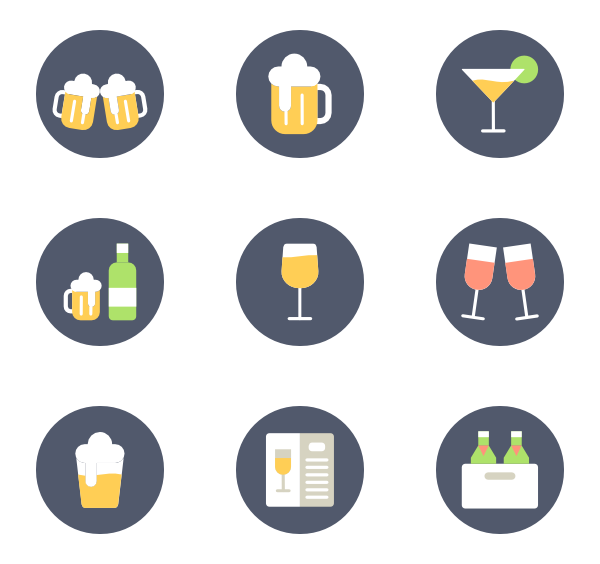 Vector lemon. Icons free drinks and