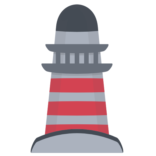 vector lighthouse seascape