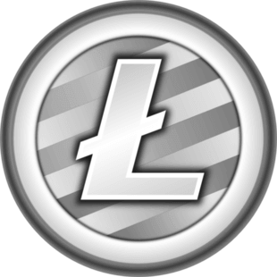 Free litecoin ltc faucet. Vector lite coin crypto picture black and white