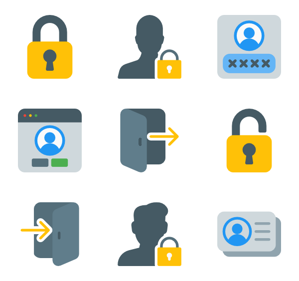 Vector login background. Icons free