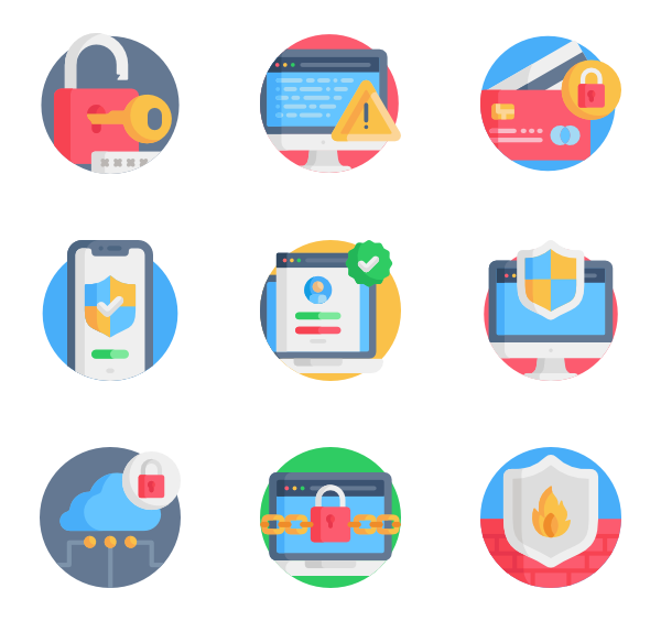 Vector login creative. Icons free internet security