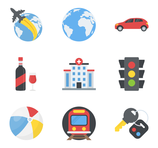 Color svg flat. Icon family vector icons