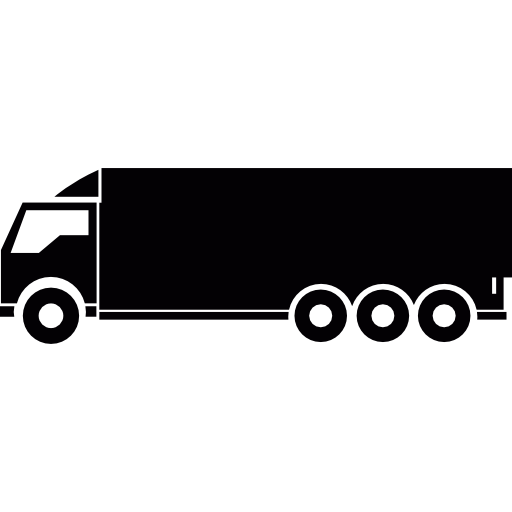 Vector logistics truck. Free transport icons icon