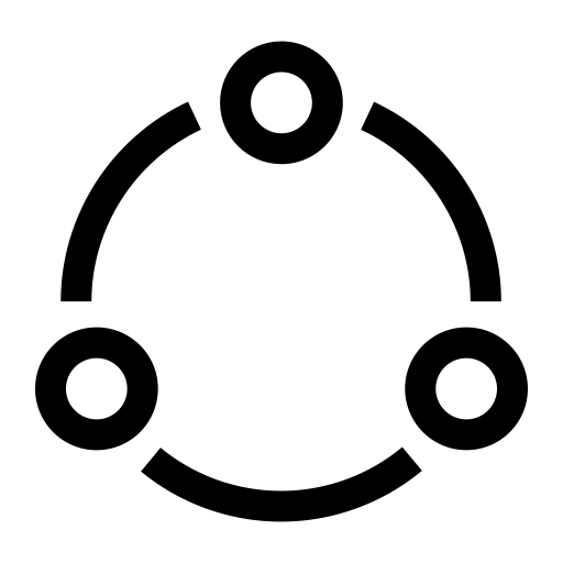 Vector loop spring. Interconnected closed view icon