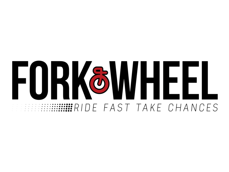 Vector magazines graphic designing. Fork wheel logo by