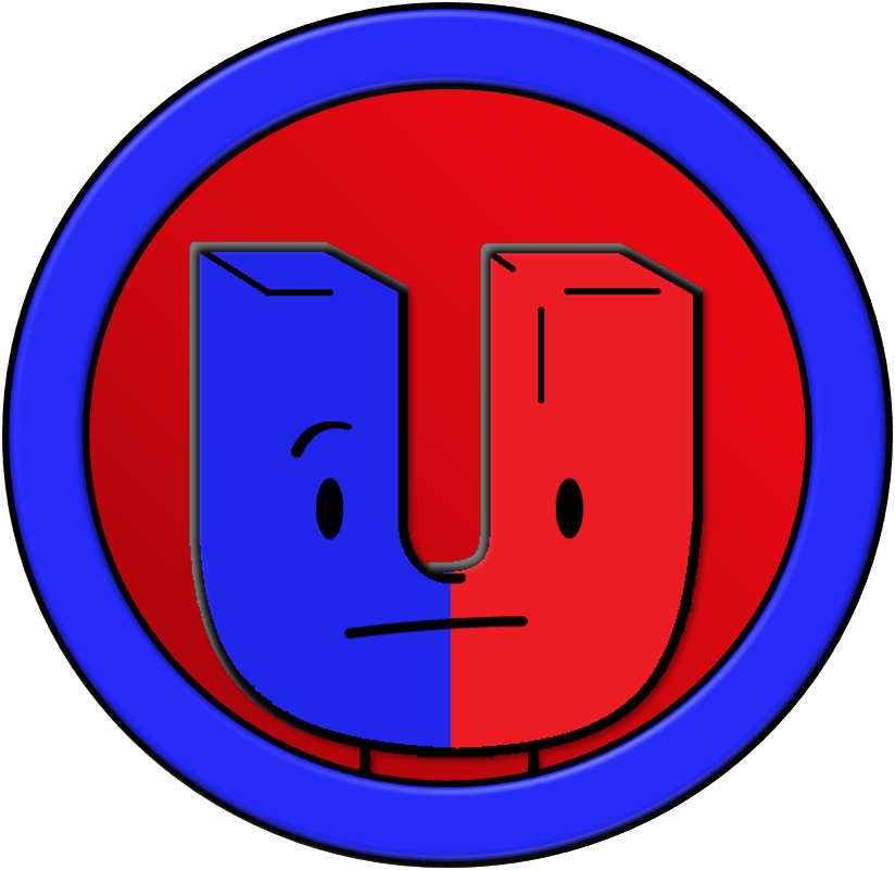 Vector magnet red blue. Inanimations by planetbucket on
