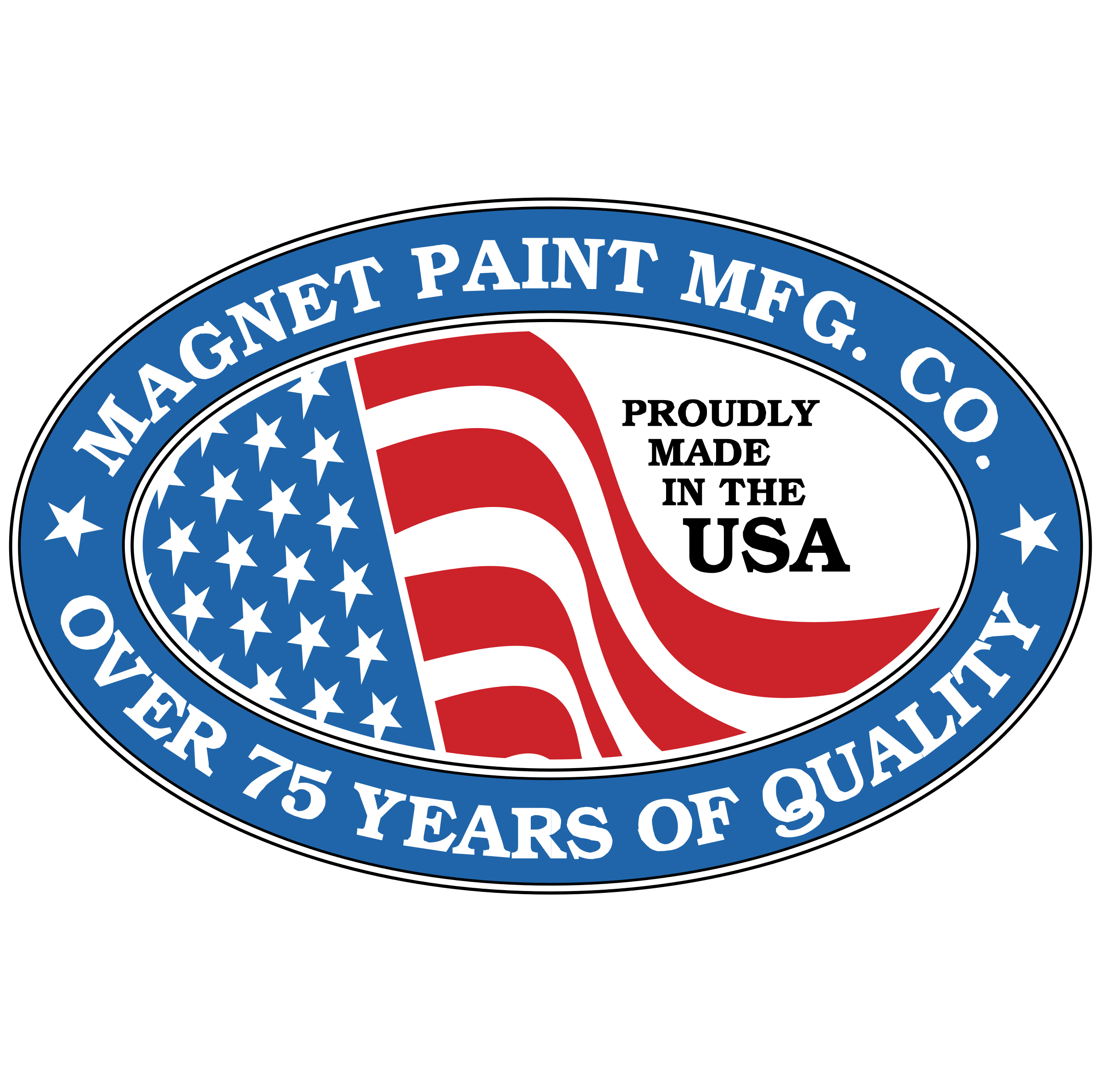 Vector magnet red blue. Paint mfg logo png