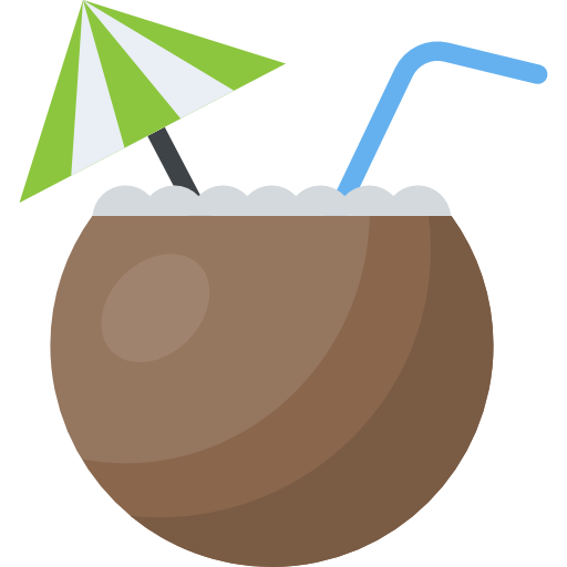 Vector market stall. Coconut free icon designed