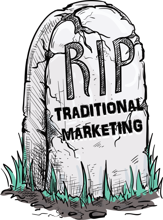 Vector market traditional. Death of marketing leadshook