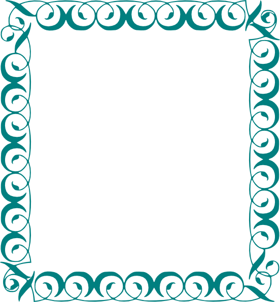 Vector maths border. Decorative page borders in