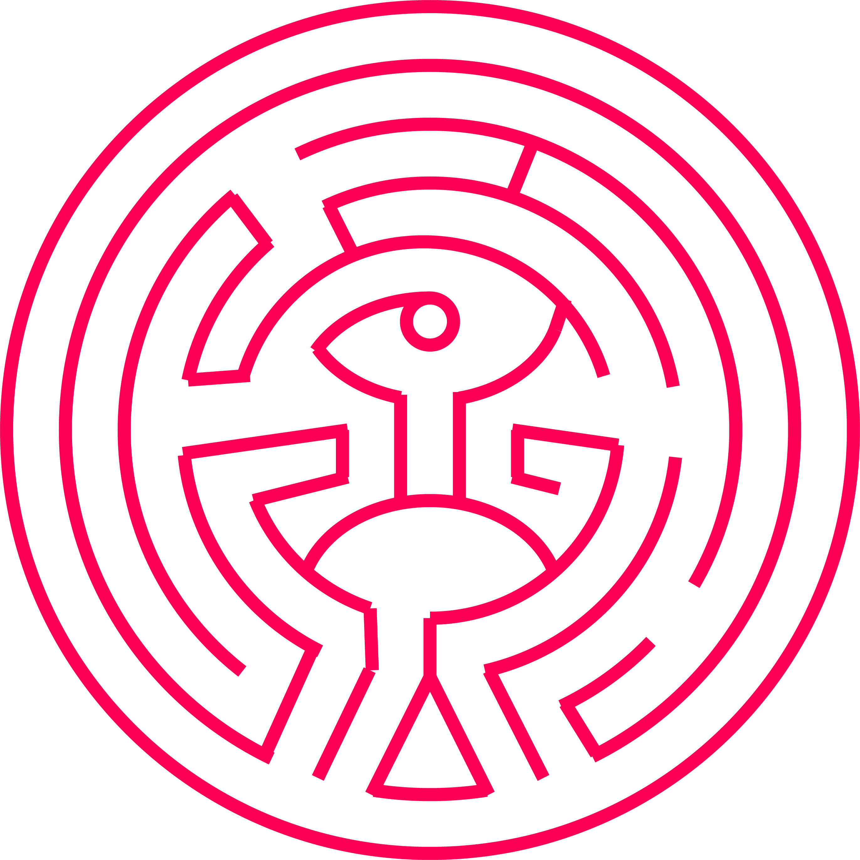 Vector maze. Making the westworld game