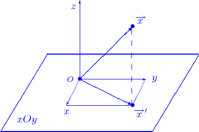 Vector means projection. What is meant by