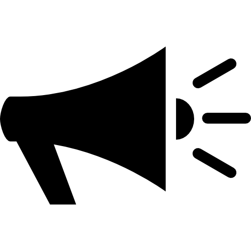 Vector megaphone holding. Icons free download demo