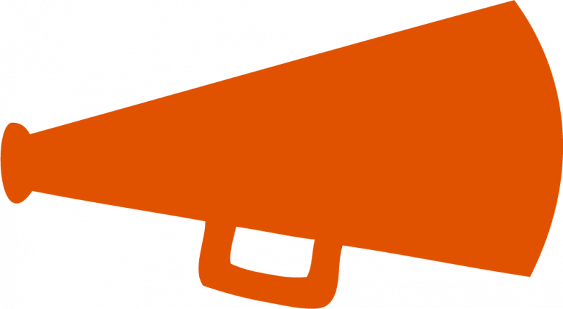 Vector megaphone orange. Clipart