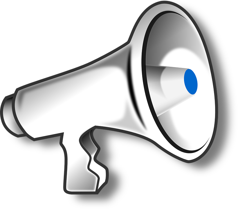 Vector megaphone scream. Collection of free defaming