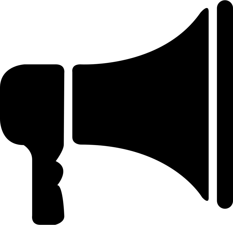 Vector megaphone simple. Svg png icon free