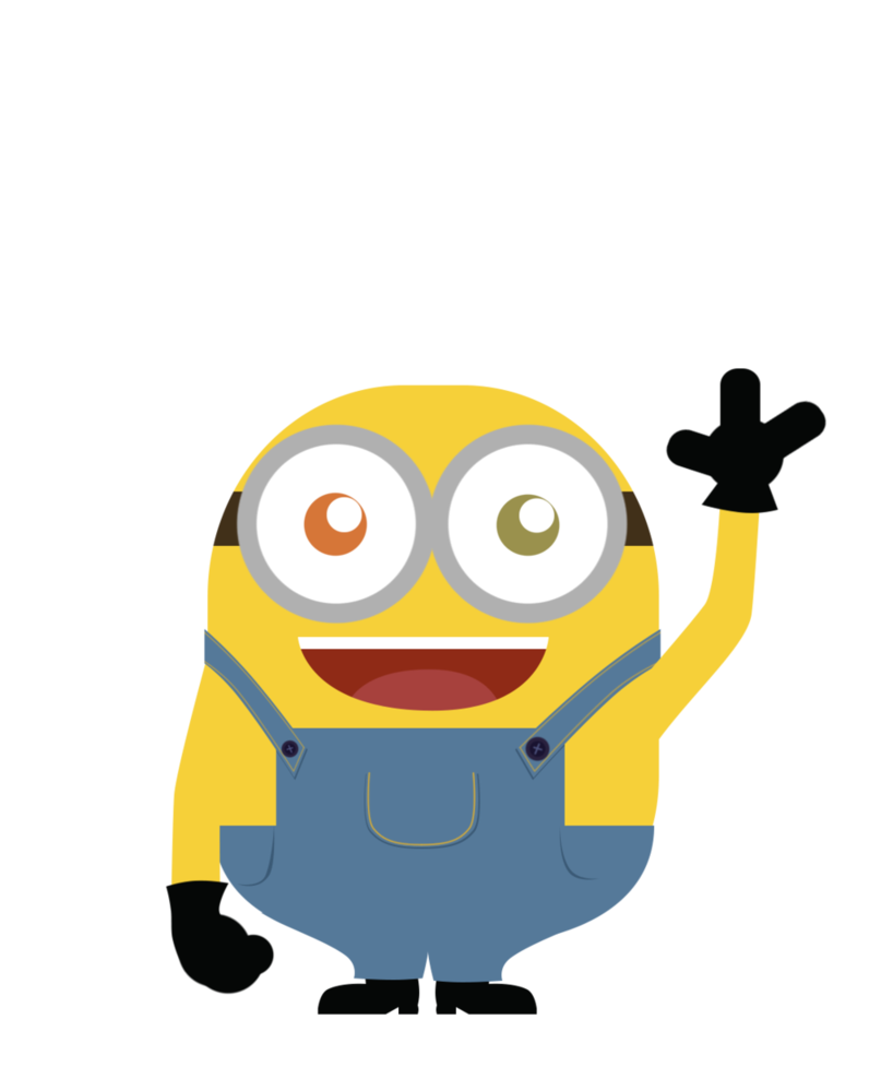 Vector minion bob. Front view by tsand