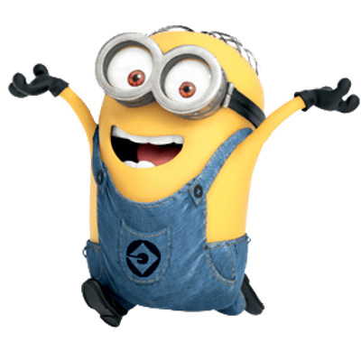 Vector minion happy. Minions clipart cute borders