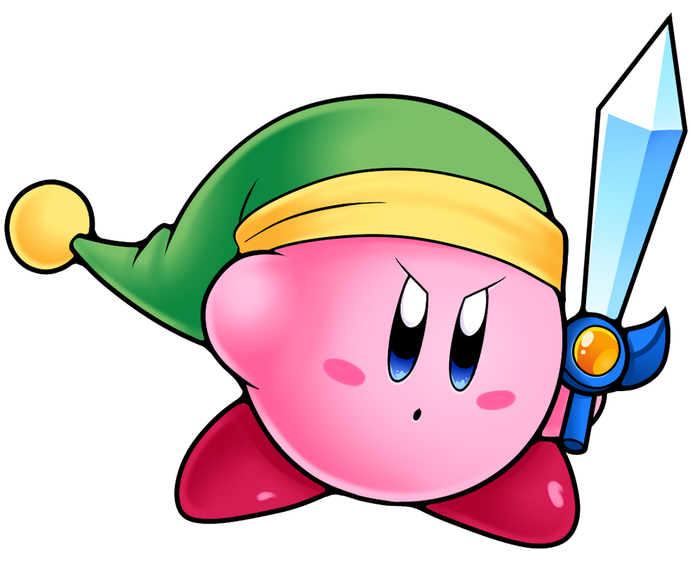 Sword by nintendofan on. Vector minion kirby image black and white library