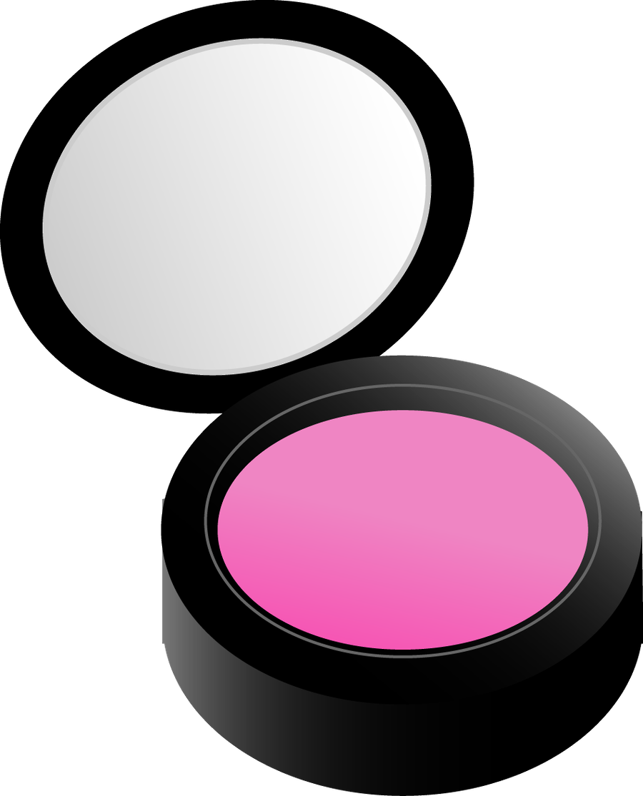 Vector mirror cartoon makeup. Collection of free blushed