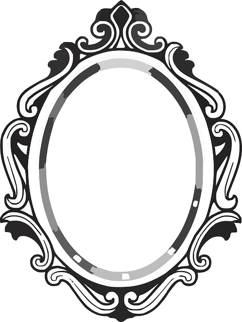 Vector mirror line drawing. Frame google search tatt