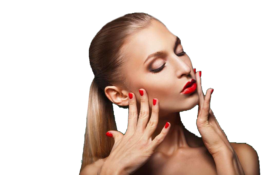 Vector modeling beauty. Nail model make up