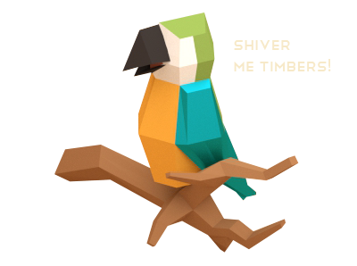 Vector modeling character. Pirates of the polygon