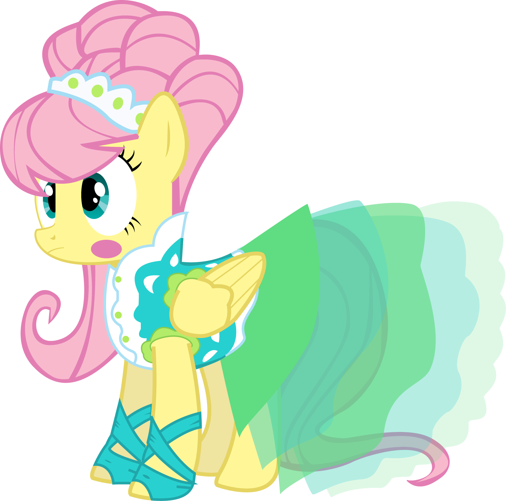 Vector modeling supermodel. Fluttershy s model dress