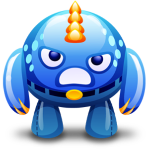 Vector monster angry. Blue icon free images