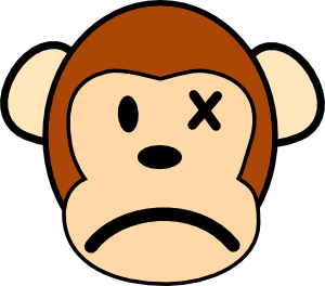 Vector monster angry. Monkey clip art at