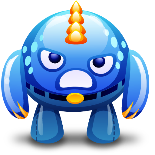 Vector monster angry. Cute monsters by fasticon