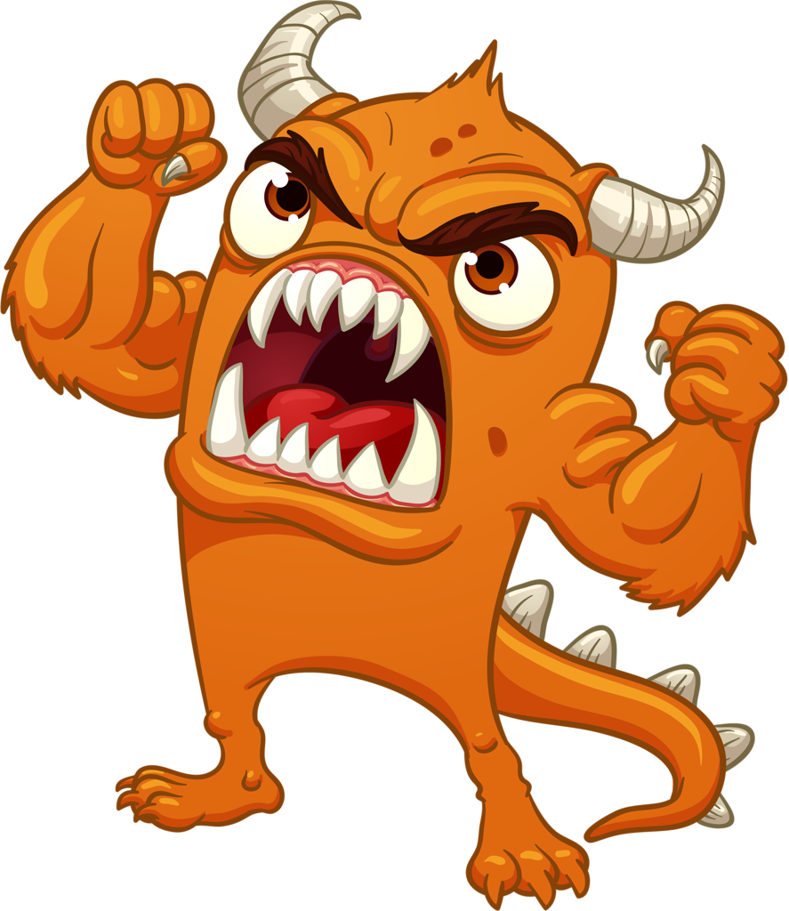 Vector monster angry. Shutterstock png monsters robot