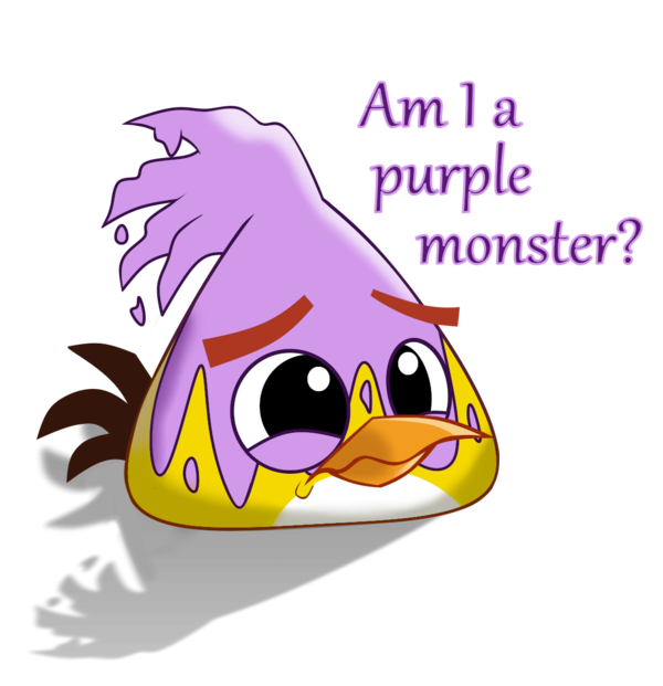Vector monster angry. Am i a purple