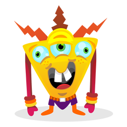 Vector monster colourful. Colorful crystal polygonal background