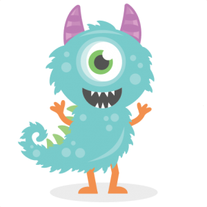 Vector monster file. With tail svg cutting